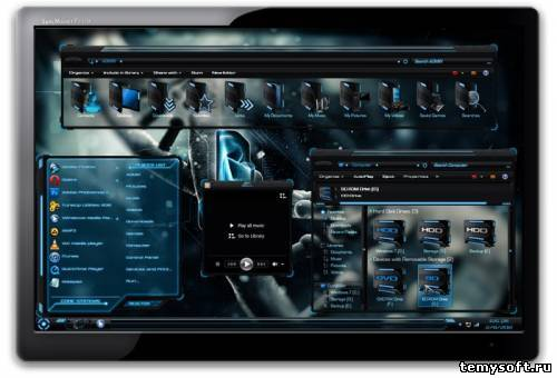 HUD PREMIUM + HUD LAUNCH + HUD EVOLUTION Windows 7 – Все темы от Mr GRiM