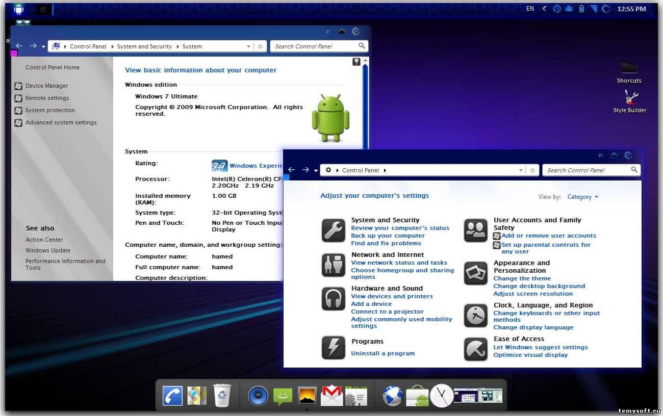 Тема Windows 7 Для Android