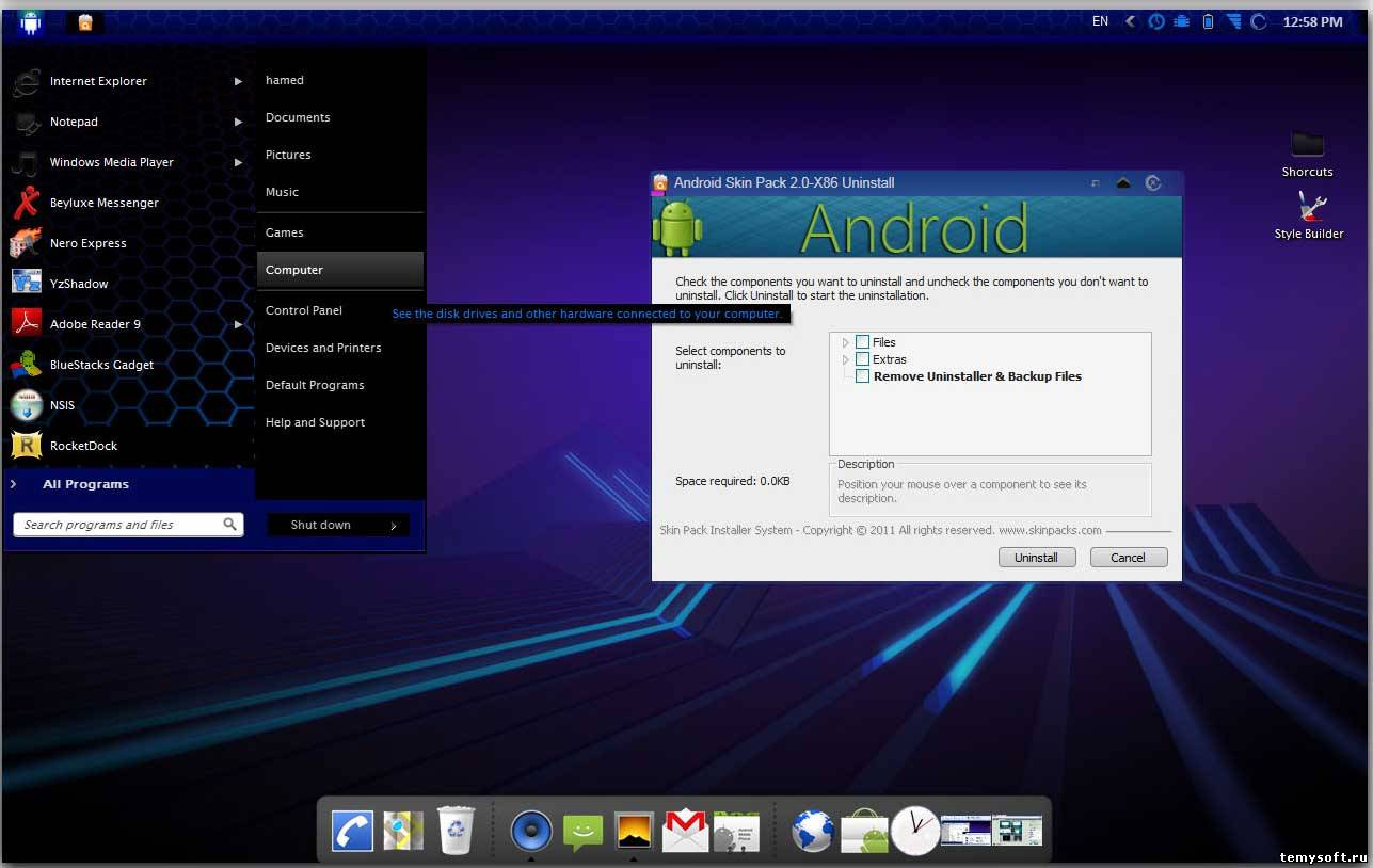 Тема Android для Windows 7 (Андроид)
