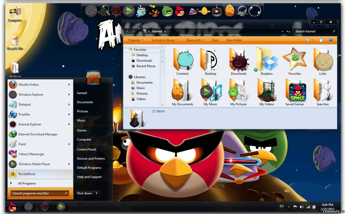 Angry Birds Space (Злые птицы)