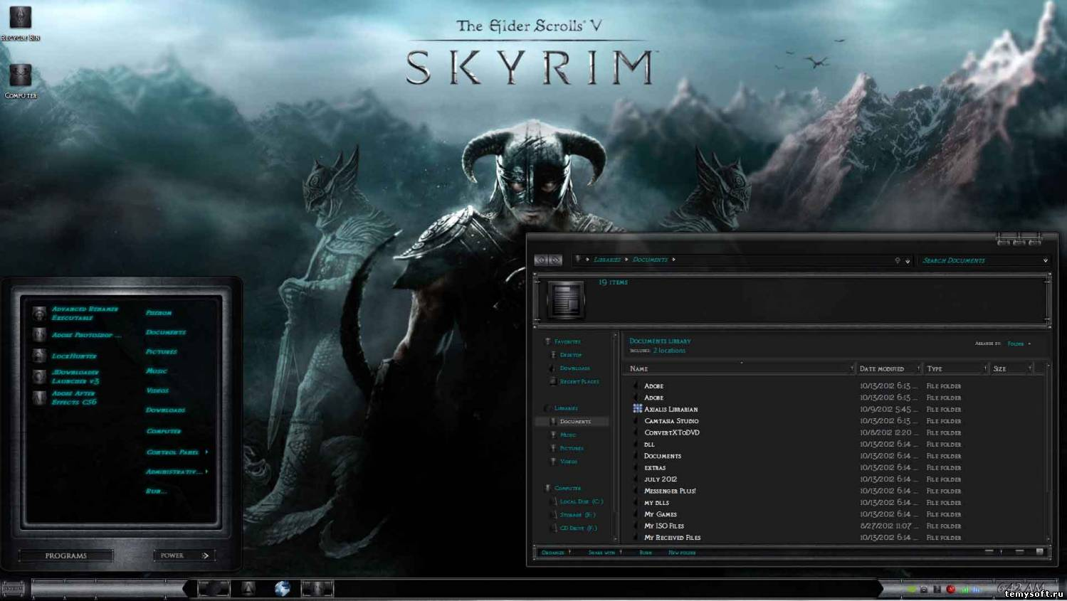 Skyrim Cold Steel Theme / в стиле игры Skyrim