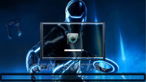 Tron Legacy logon screen + user images al in 7 colors by POWEREDBYOSTX