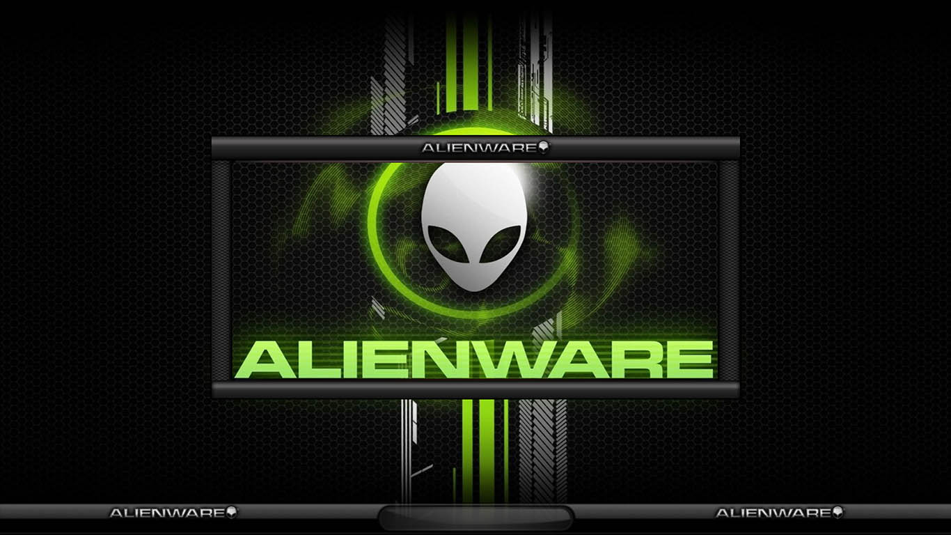 Alienware Logo Green Lightning logon by TerminatoR