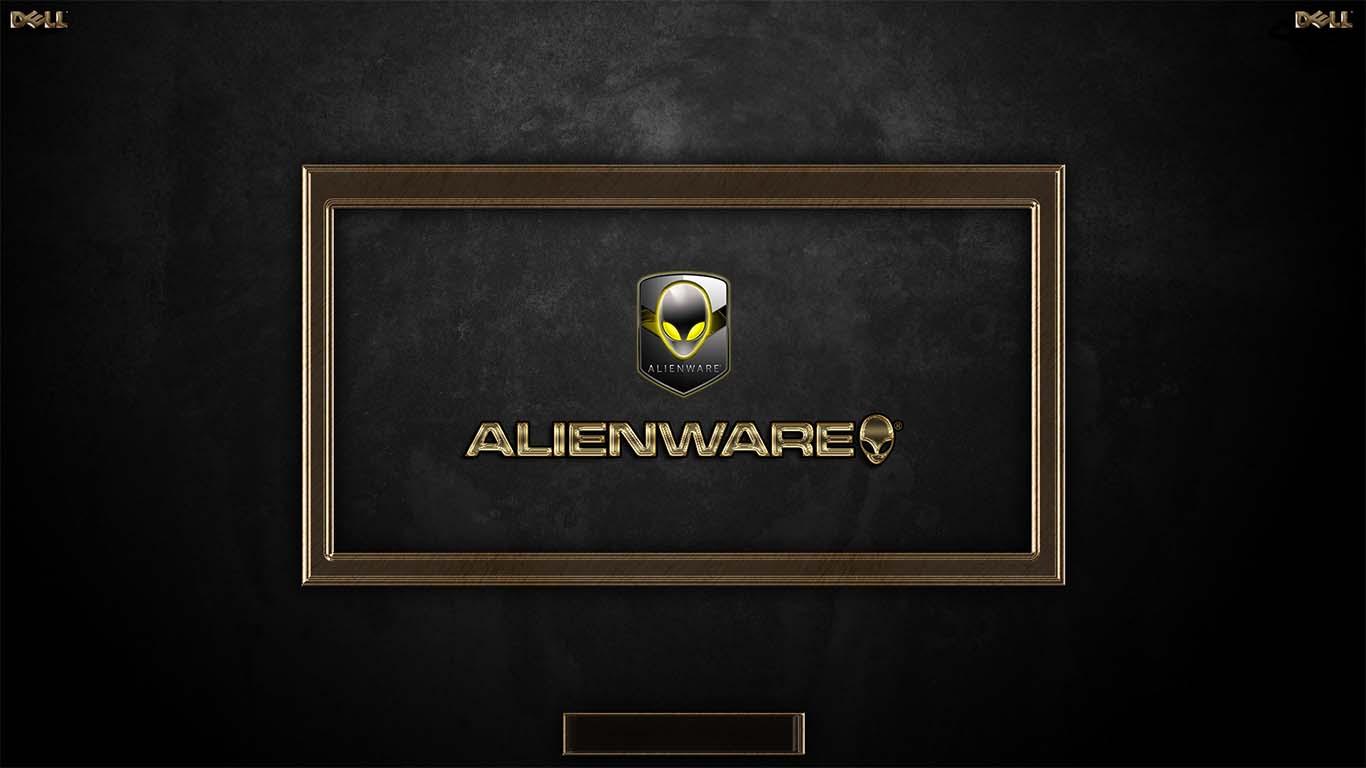 Metalic Golden ALIENWARE Logon by TerminatoR