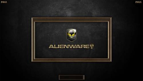 Metalic Golden ALIENWARE Logon by TerminatoR