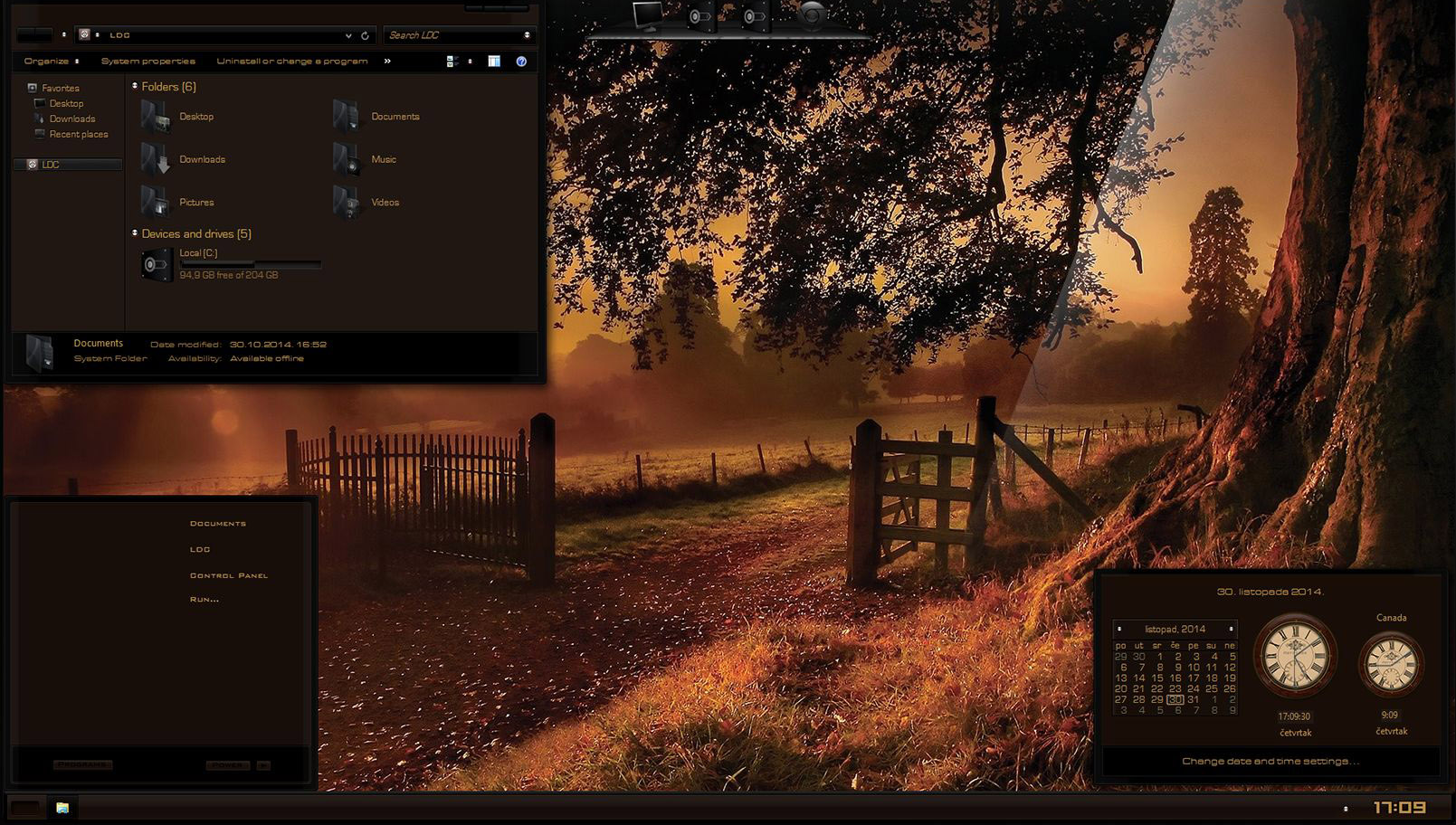 Autumn Dreams W8.1.1 Theme by Razorsedge & Lamia