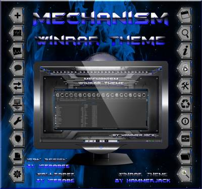 Mechanism_Blue_Winrar_Theme by HammerJack & gsw953,icebabee,lamia