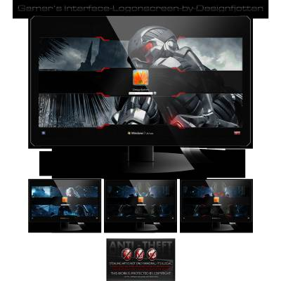 Gamers interface logonscreen pack by designfjotten
