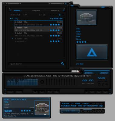 Alienware HQ AIMP3 Skin By Designfjotten