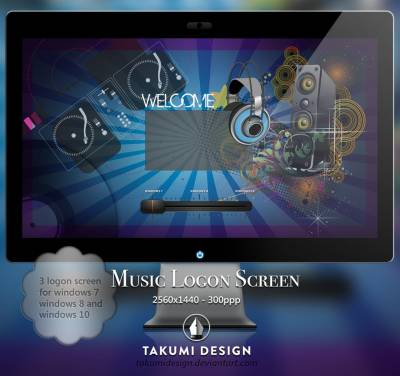Music logon screen by Takumidesign