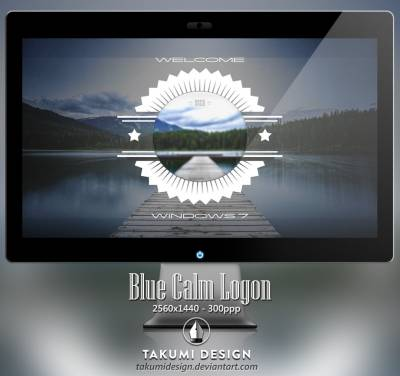 Blue calm logon by Takumidesign