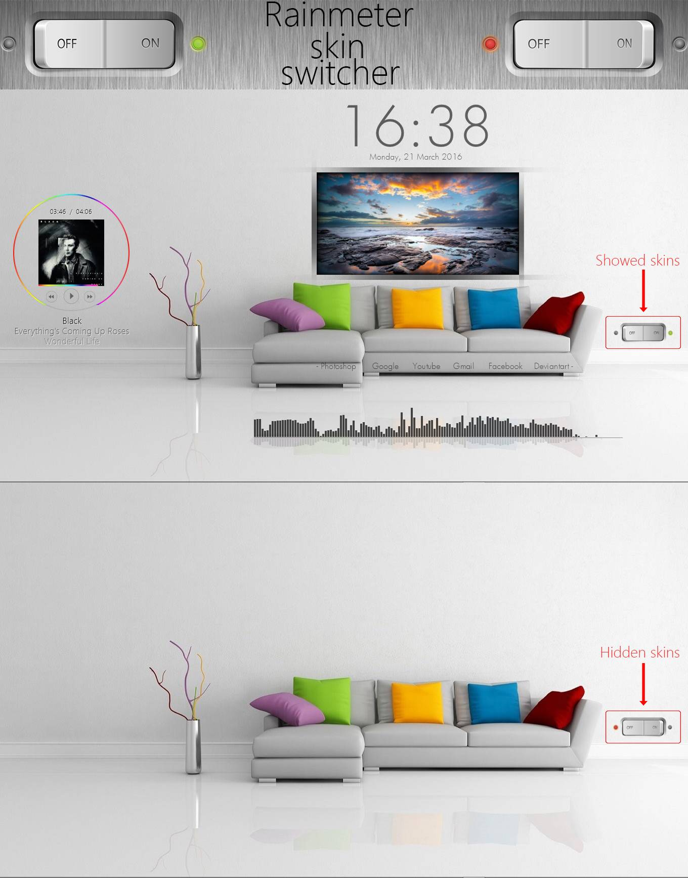Rainmeter skin switcher by hiphopium