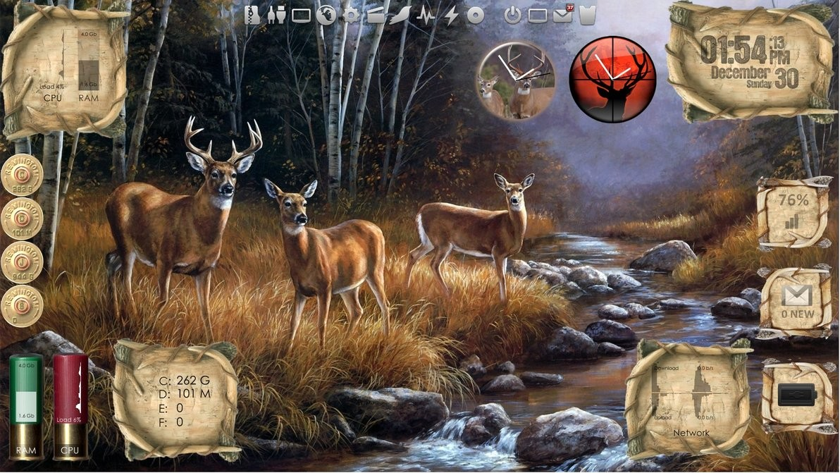 Outdoor Living Deer Desktop for Rainmeter v1 1 by ionstorm01
