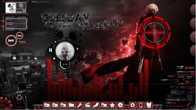 Devil May Cry Rainmeter Desktop by ionstorm01