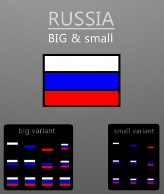 Russia big and small by ashxabad