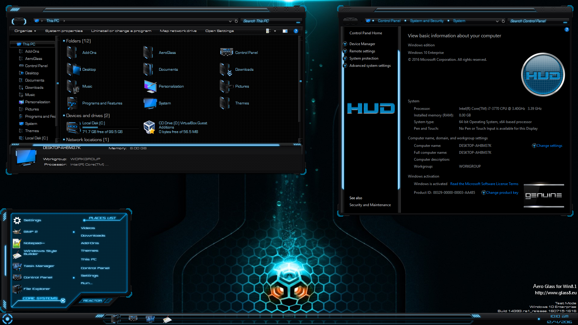 HUD for Windows 10 Anniversary Update aka Redstone One by Shemhamforash & MR.GRIM