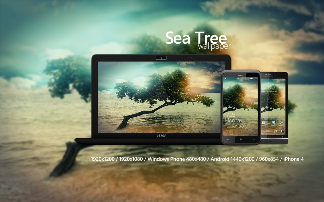 Sea Tree Wallpaper by Martz90