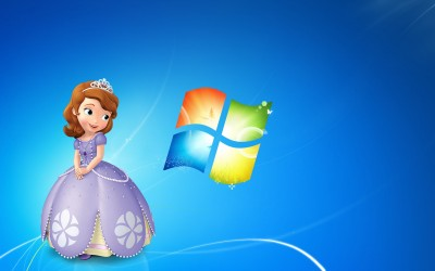 Windows 7 Sofia The First by nanandmic567