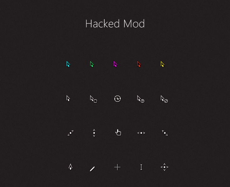 Hacked Mod Cursors by alexgal23