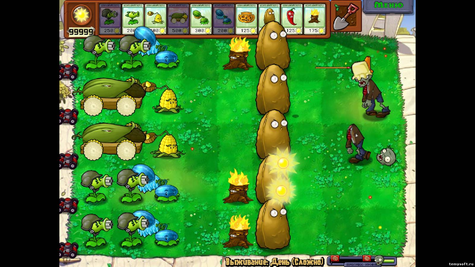 игра plants vs.zombies-game of the year